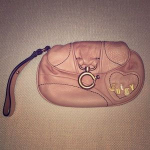 Juicy Couture Rose Pink wristlet. New.